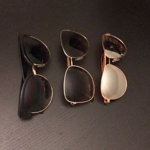 3 pairs Urban Outfitter sunglasses